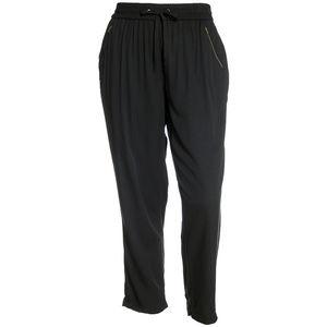 Black Straight Leg Zipper Pocket Pull On Pants NEW